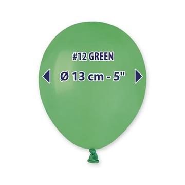 Obrázek Balonky 13 cm - zelené - 100 ks