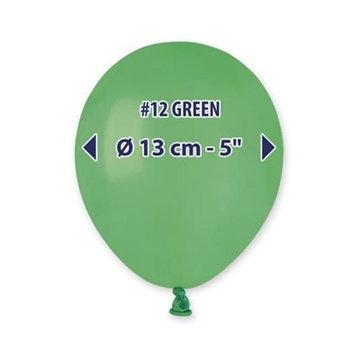 Obrázek z Balonky 13 cm - zelené - 100 ks