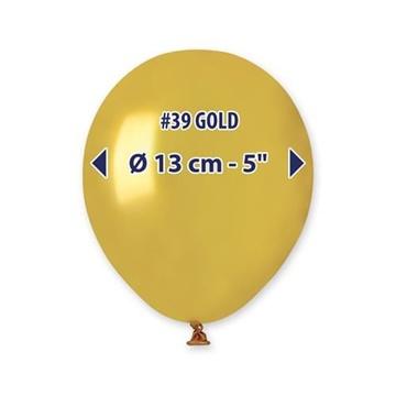 Obrázek Balonky 13 cm - zlaté - 100 ks