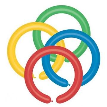 Obrázek Modelovací balonky profesionální - 100 ks - mix barev