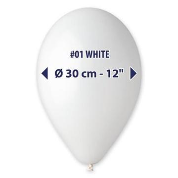 Obrázek Balonky 30 cm - bílé 100 ks