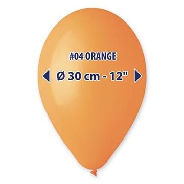 Obrázek Balonky 30 cm - oranžové 100 ks