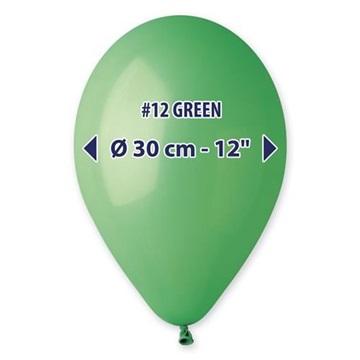 Obrázek Balonky 30 cm - zelené 100 ks