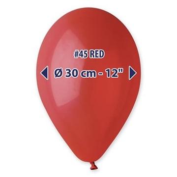 Obrázek Balonky 30 cm - červené 100 ks