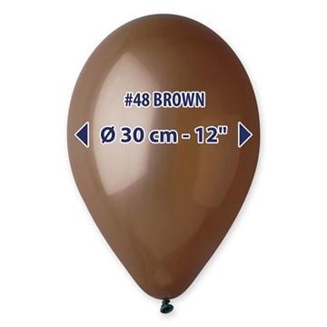 Obrázek Balonky 30 cm - hnědé 100 ks