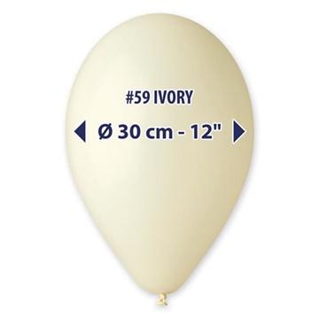 Obrázek Balonky 30 cm - slonovinová kost 100 ks