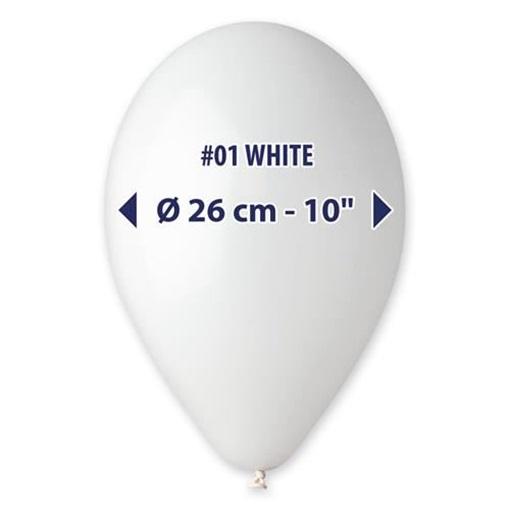 Obrázek z Balonky 26 cm - bílé 100ks
