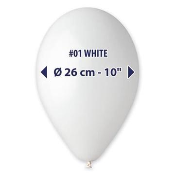 Obrázek Balonky 26 cm - bílé 100 ks