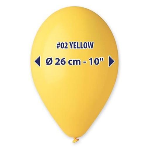 Obrázek z Balonky 26 cm - žluté 100 ks