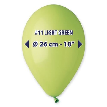 Obrázek Balonky 26 cm - světle zelené 100 ks
