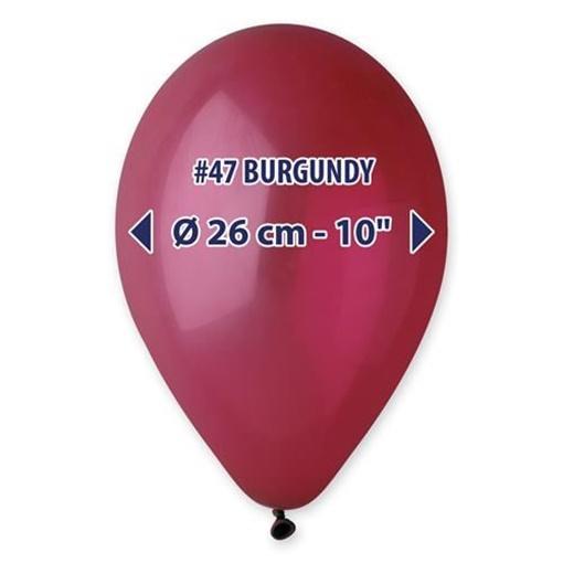 Obrázek z Balonky 26 cm - bordeaux 100 ks