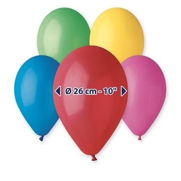 Obrázek Balonky 26 cm - mix barev 100 ks
