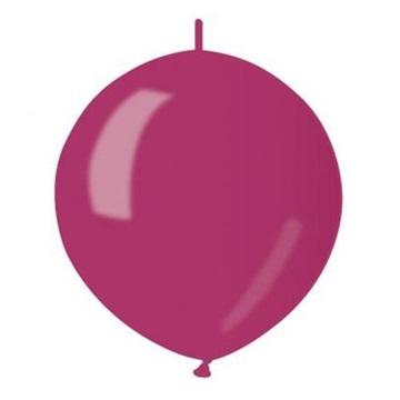 Obrázek Spojovací balonek bordeaux metalický 32cm