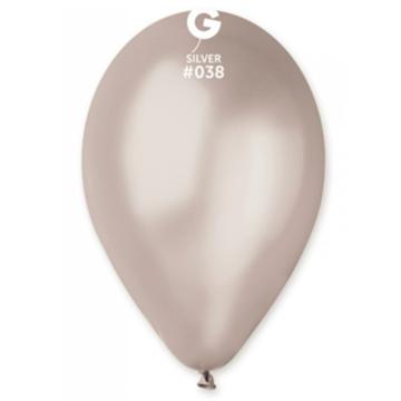 Obrázek Metalické balonky 28 cm - stříbrné 100 ks