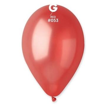 Obrázek Metalické balonky 28 cm - červené 100 ks
