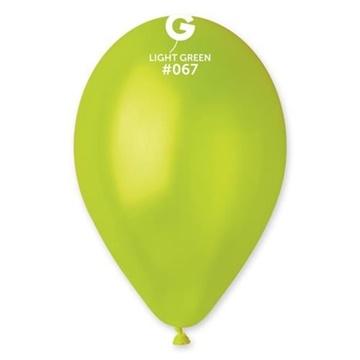Obrázek Metalické balonky 28 cm - světle zelená 100ks