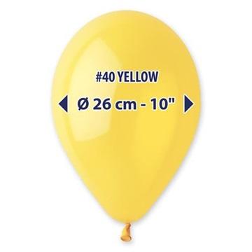 Obrázek Metalické balonky 26 cm - žluté 100 ks