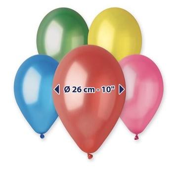 Obrázek Metalické balonky 26 cm - mix barev 100 ks