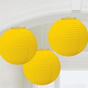 Obrázek Lampion kulatý 20 cm žlutý