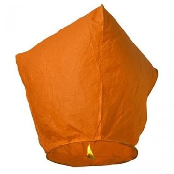 Obrázek Létající lampion přání - oranžový