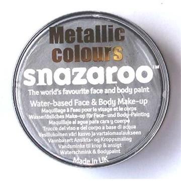Obrázek Barva na obličej Snazaroo - stříbrná metalická 18 ml