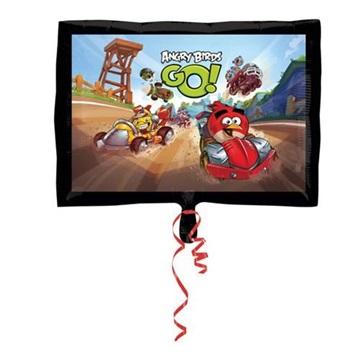 Obrázek Foliový balonek čtverec Angry Birds Go 43 cm