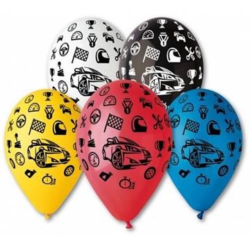 Obrázek Latexový balonek s potiskem Závodní auta