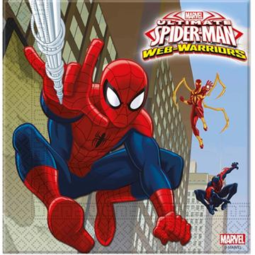 Obrázek Papírové party ubrousky Spiderman 20 ks