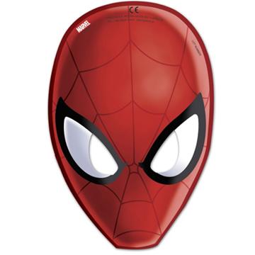 Obrázek Party papírové masky Spiderman 6 ks