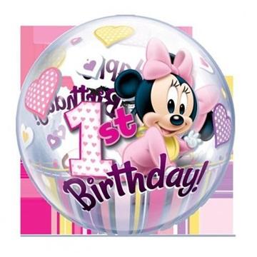 Obrázek Foliová bublina Minnie první narozeniny 56 cm