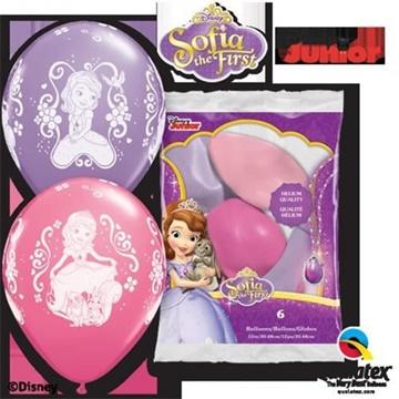 Obrázek Latexové balonky Princezna Sofie 1 - 6 ks