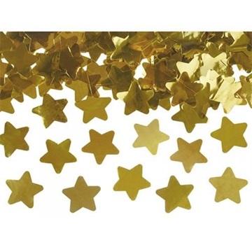 Obrázek Vystřelovací konfety zlaté hvězdy 60cm