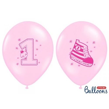 Obrázek Latexový balonek 1 s botičkou růžový
