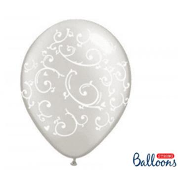 Obrázek Latexový balonek průhledný s ornamenty 2 - 36 cm