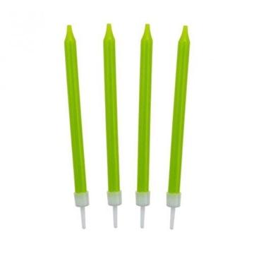 Obrázek Barevné svíčky na dort zelené 10 ks