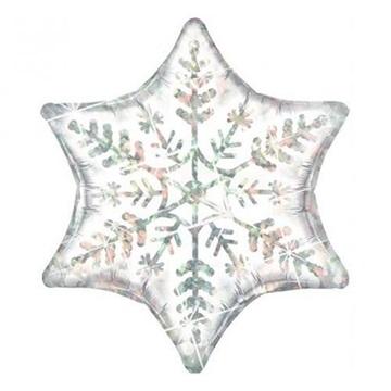 Obrázek Foliový balonek Sněhová vločka 56 cm