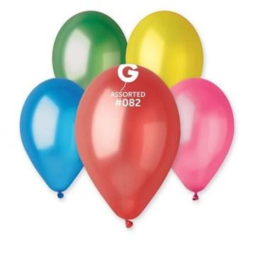 Obrázek Metalické balonky 28 cm - mix barev 100 ks