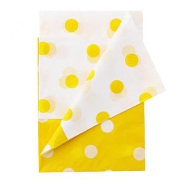 Obrázek Plastový party ubrus žluté puntíky 128 x 181 cm