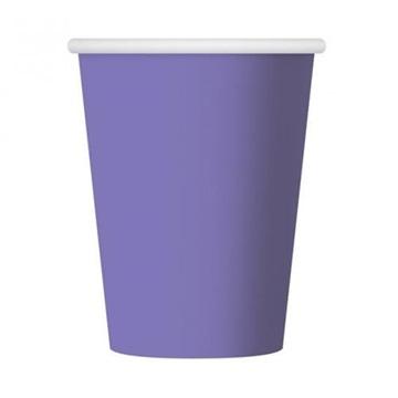 Obrázek Papírové kelímky fialové 6 ks
