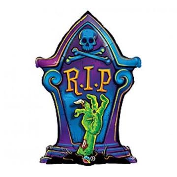 Obrázek Foliový balonek Halloween náhrobek 91 cm