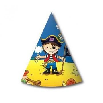 Obrázek Party papírové čepičky pirát na ostrově 6 ks