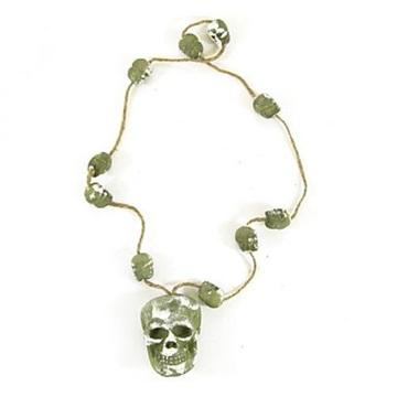 Obrázek Halloweenská dekorace - náhrdelník s lebkou