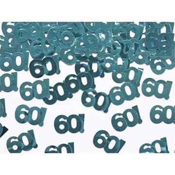 Obrázek Konfety metalické číslo 60! 15 g