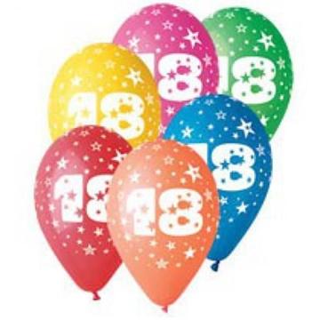 Obrázek Latexový balonek číslo 18 - 30 cm