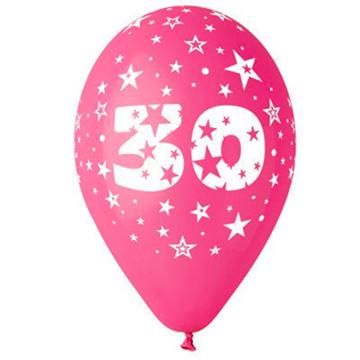 Obrázek Latexový balonek číslo 30 - 30 cm