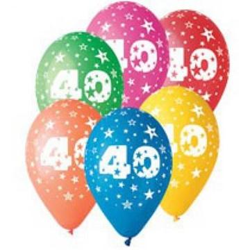 Obrázek Latexový balonek číslo 40 - 30 cm