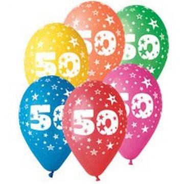 Obrázek Latexový balonek číslo 50 - 30 cm