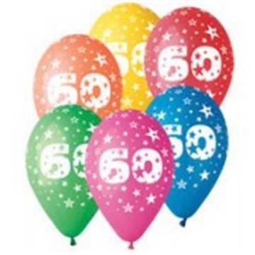 Obrázek Latexový balonek číslo 60 - 30 cm