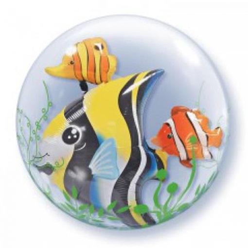 Obrázek z Dvojitá foliová bublina Tropické rybky 61 cm
