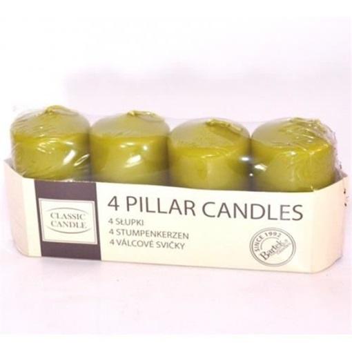 Obrázek z Adventní svíčky olivová zelená - 4 ks
